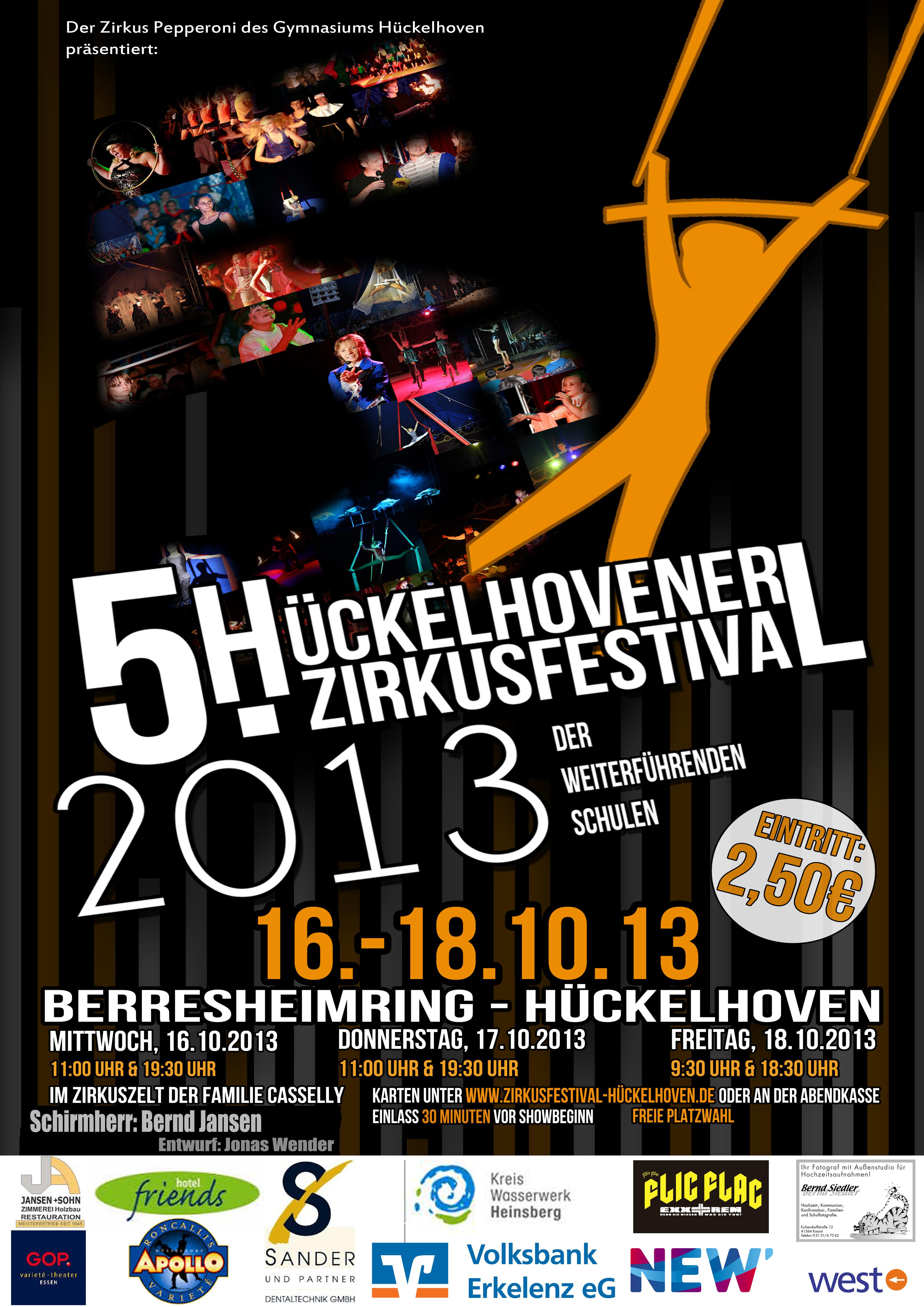 Zirkusfestival 2013 Offizielles Plakat